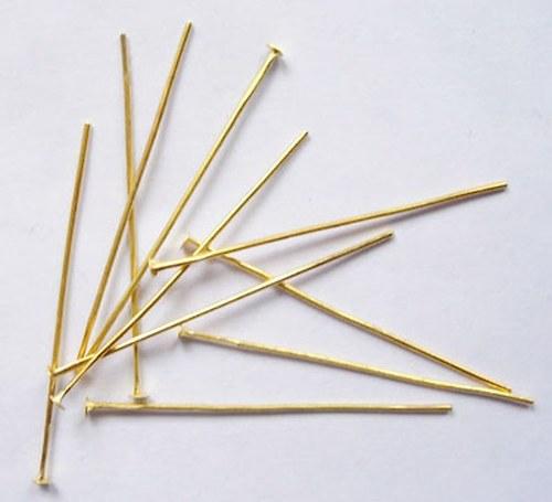Nýtky 10g/50g/100g zlatá 35mm