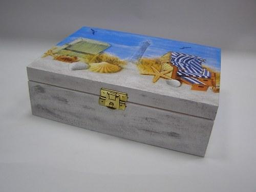 Dřevěná krabička - 6 přihrádek - Od moře