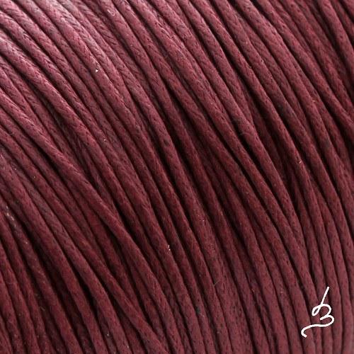Bavlněná šňůrka 1 mm rudá