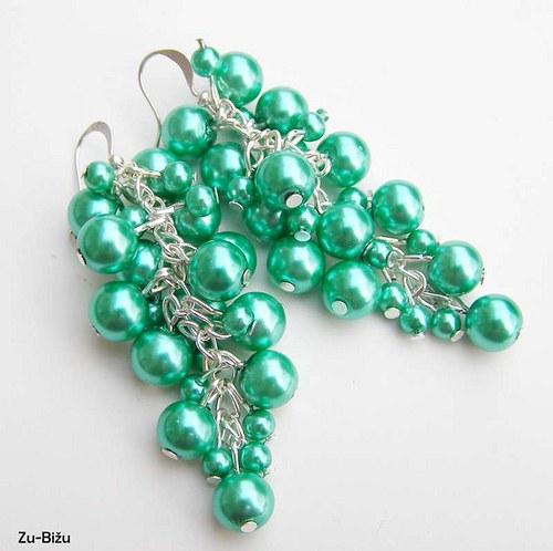 Pastelovo zelené perličky