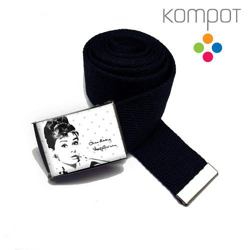 Pásek Audrey Hepburn :: šedé puntíky