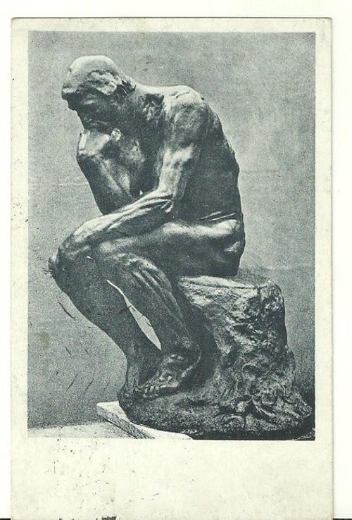 Umělecká pohlednice Auguste Rodin Myslitel