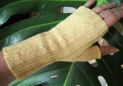 Pletené návleky na ruce - vlna