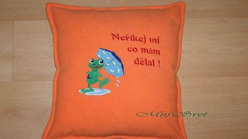 Polštář s žabičkou (barvy na objednávku)