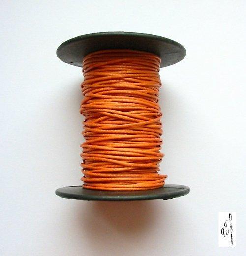 Voskovaná bavlněná šňůrka oranž, 1 mm, 4 m