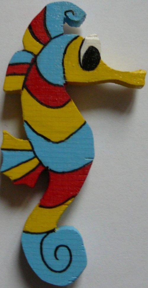 magnet  mořský koník modrý