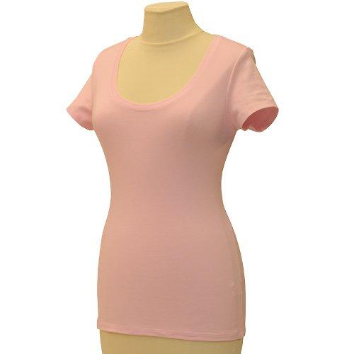 Růžové tričko belaroma krátký rukáv, kulatý výstř.