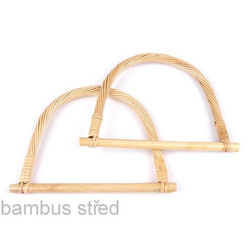 Ucho na tašku -13x18cm, bambusové (odstín střední)