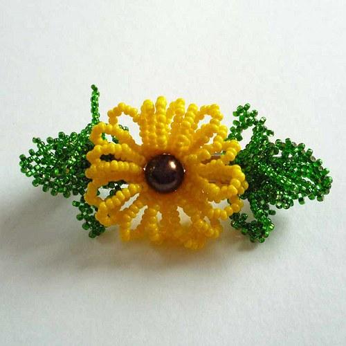 Slunečnice -  spona do vlasů