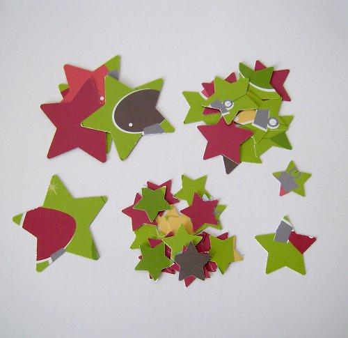 Vánoční výseky - sada hvězdiček 3 velikostí