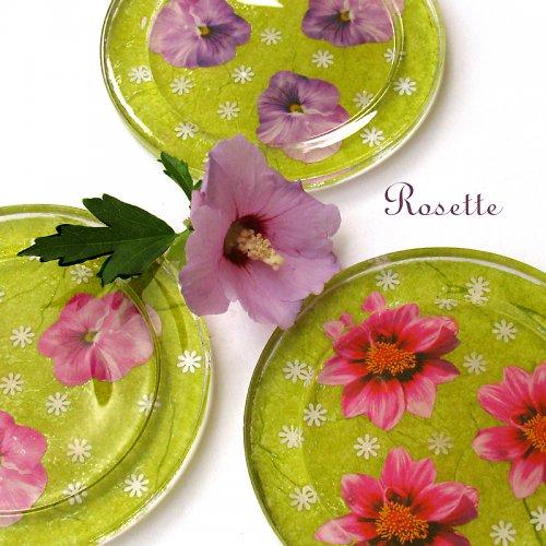 Zahrada ve fialovém -  skleněná podložka