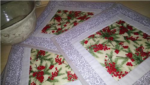 Vánoční prostírání  33 x 33 cm