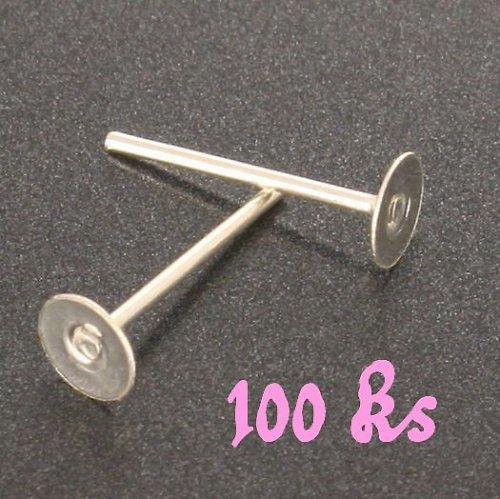 Stříbrné náušnicové puzety 12x4mm 100ks