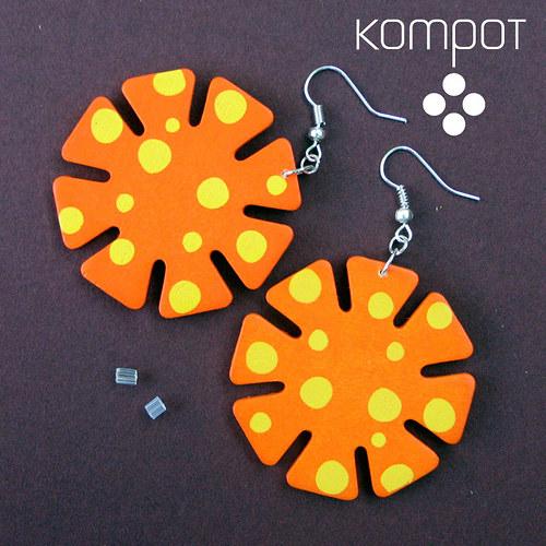 MALOVANÉ KYTIČKY - oranžové