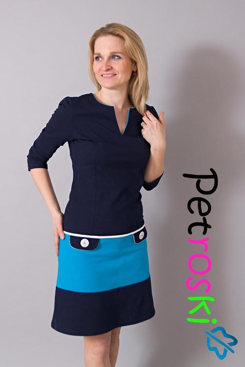 Šaty - modrý business II
