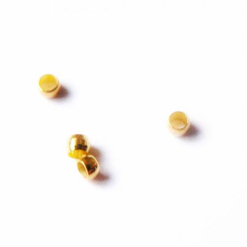 zamačkávací rokajl zlatý 100ks