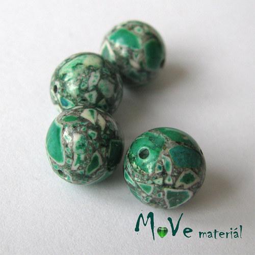 Korálky Marble zelené 10mm 4ks