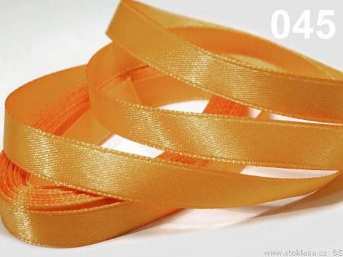 Stuha saténová š.6mm oranžová světlá