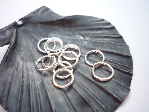 stříbrný kroužek 50 ks, 6 mm