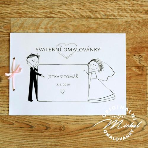 Svatební omalovánky - TYP 23