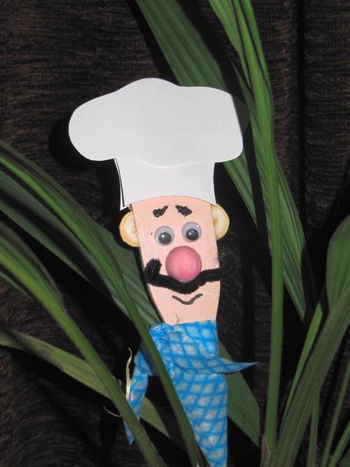 Kuchař - vařečková dekorace