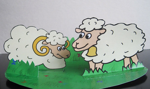 Vystřihovánka ovečky