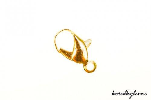 Karabinka zlatá 12mm 4ks