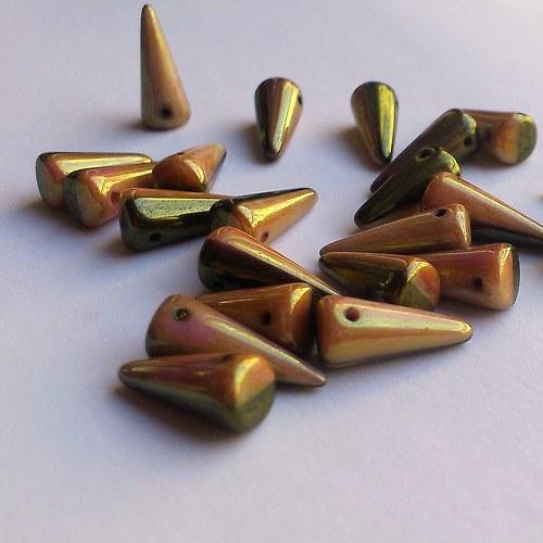 spike - trny kovově zeleno-zlaté