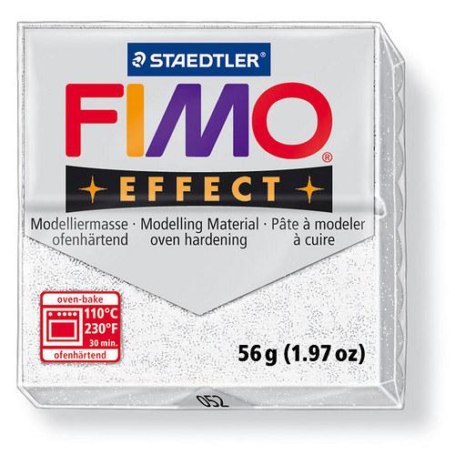 Fimo effect třpytivá bílá 52
