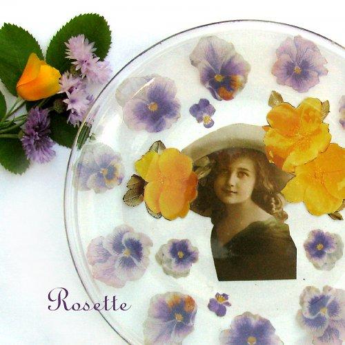 Žanynka - romantický skleněný talíř