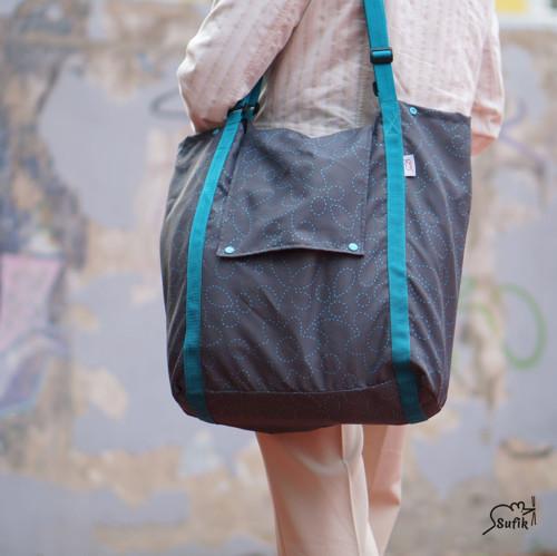 Velká, lehká, skládací taška s víkem SKLADEM