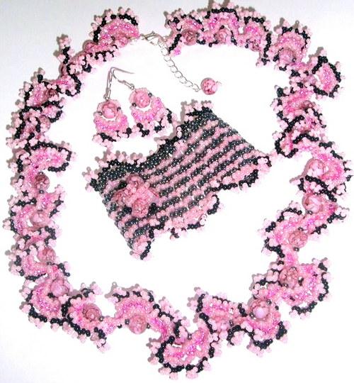 Růžové vlnky
