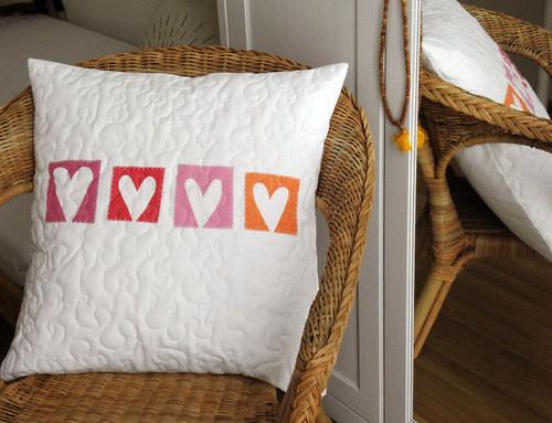 my love - povlak polštář, čtyři srdíčka - velký