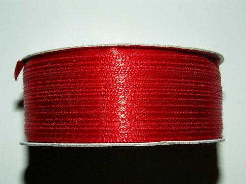 Stuha atlasová červená - šíře 3 mm