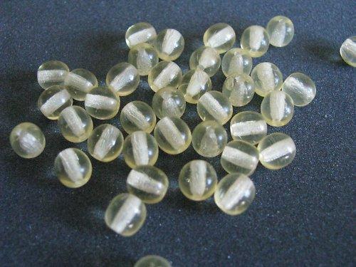 Skleněné korálky - žluté korálky - 20ks