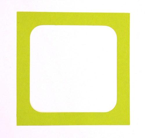 Rámeček velký čtverec - barva podle přání