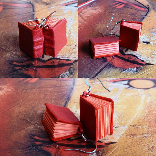 good look with book in red