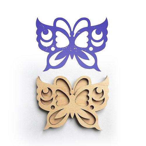 Razítko na textil - motýl střední