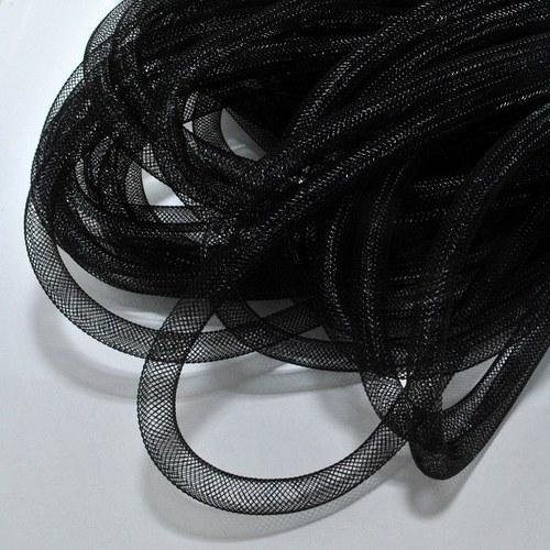 Pružná návleková síťka / 8 mm / černá