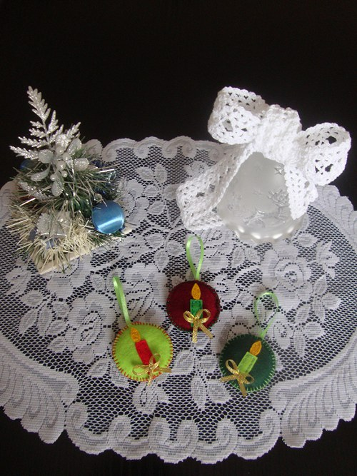 Vánoční ozdoby -svíce