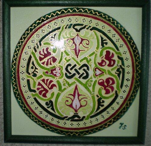 Orientální mandala Palmový list lásky