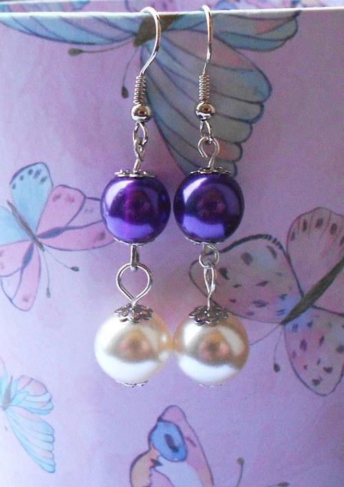 Perličkové fialové