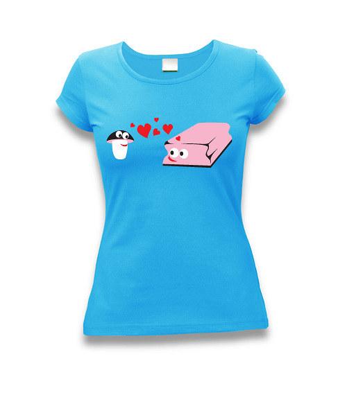 Zamilované houbičky - dámské tričko s potiskem