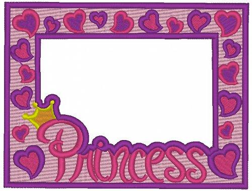 Celovyšitý magnetický rámeček na fotky Princess