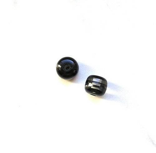 Pruhované korálky, 8 mm - 2 kusy