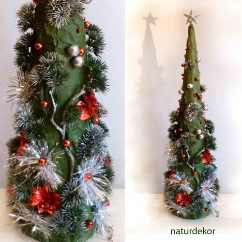stromeček s zeleno stříbřitý (65cm)