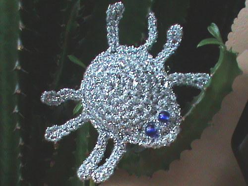 brož-pavouk stříbrňák