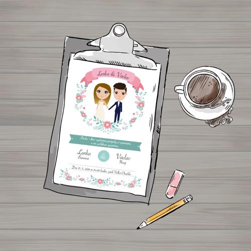 Grafický návrh - Svatební sada