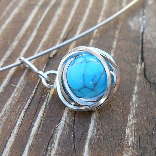 tyrkysový náhrdelník