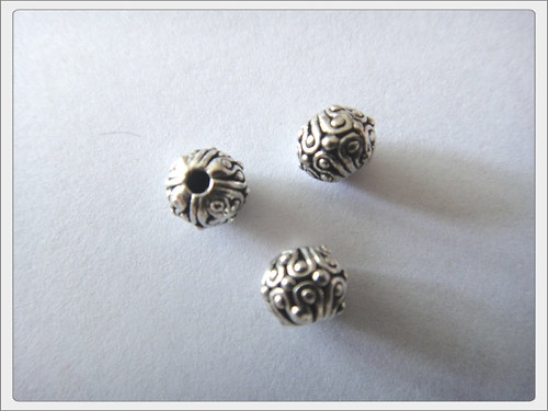 Kovový korálek, kulička starostříbro